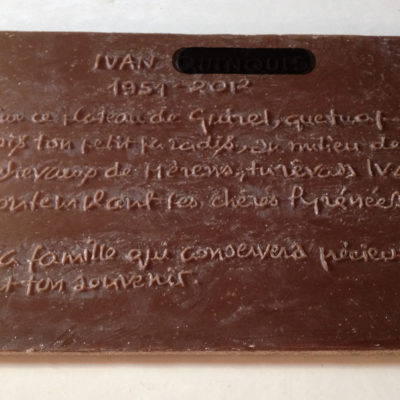 cire plaque commémorative