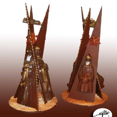 décoration de gateaux en chocolaten chocolateinture en chocola