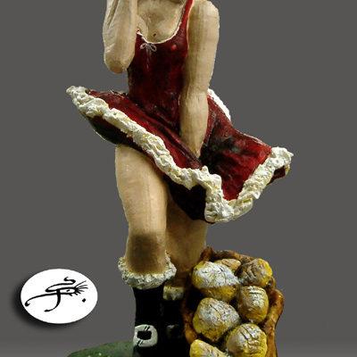 sculpture en chocolat  : mère Noel