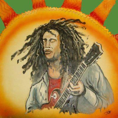 décoration de gateaux : Bob Marley