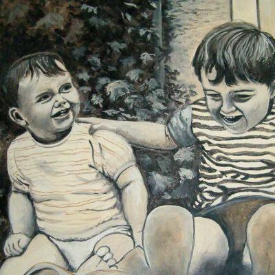 peinture en chocolat : portraits d'après photo