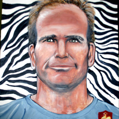 peinture en chocolat : Rugbyman