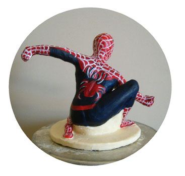 sculpture en chocolat Spiderman