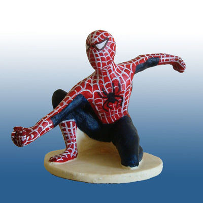 sculpture en chocolat : Spiderman