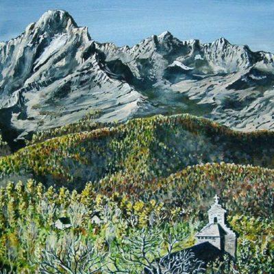peinture en chocolat : Mont Valier